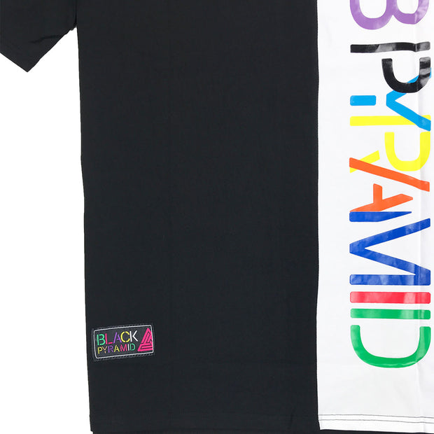 Black Pyramid Color Block Tee - PremierVII
