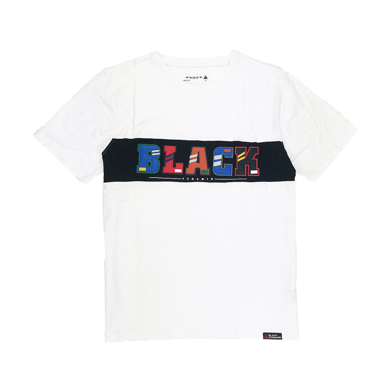 Black Pyramid Letters Short Sleeved Shirt - PremierVII
