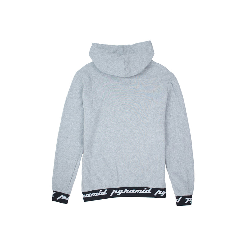 Black Pyramid Men's Core Rubber 3D Patch Hoodie Heather Grey Back