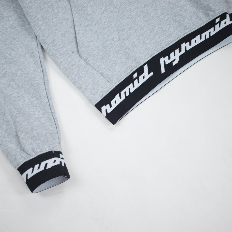 Black Pyramid Men's Core Rubber 3D Patch Hoodie Heather Grey Taping