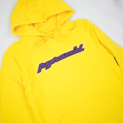 Black Pyramid Men's Core Rubber 3D Patch Hoodie Yellow Artwork