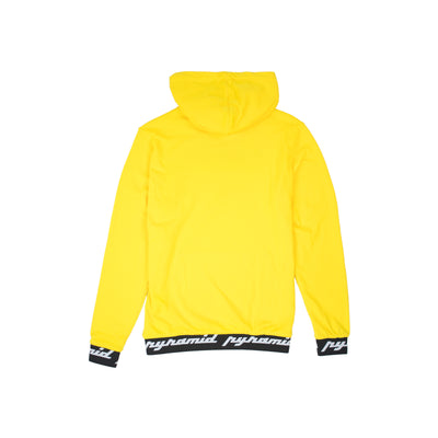Black Pyramid Men's Core Rubber 3D Patch Hoodie Yellow Back