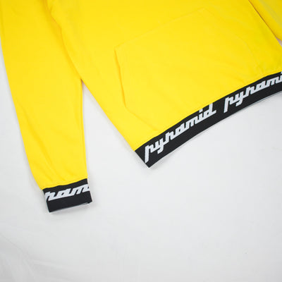 Black Pyramid Men's Core Rubber 3D Patch Hoodie Yellow Taping