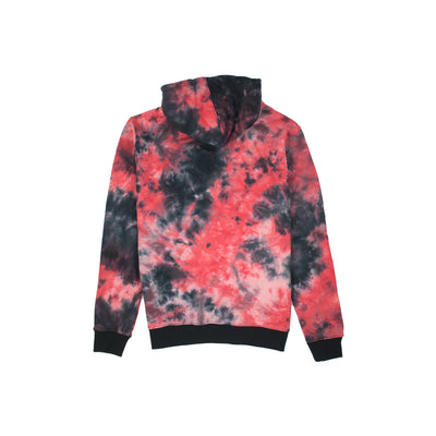 Black Pyramid Men's Tie-Dye Drip Hoody Pink Back