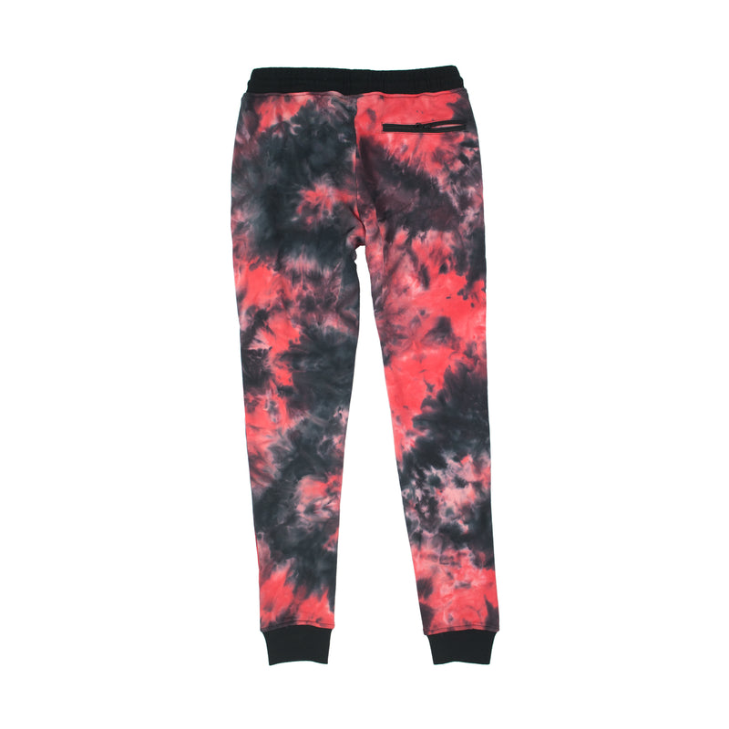 Black Pyramid Men's Tie-Dye Drip Pants Pink Back