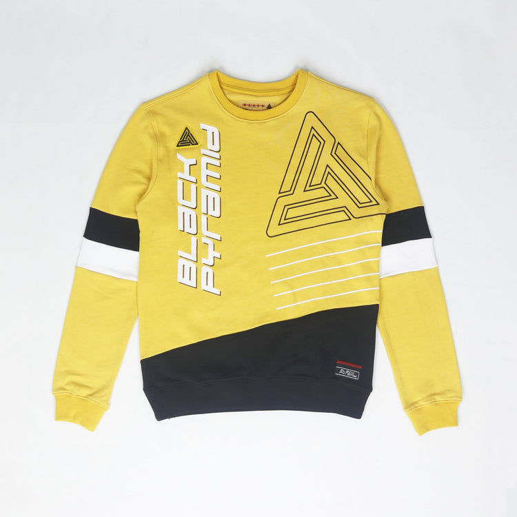 Black Pyramid Retro Future Crew Neck Sweatshirt - PremierVII