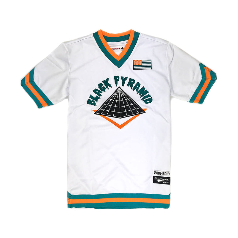Black Pyramid Short Sleeved Baseball Jersey - PremierVII