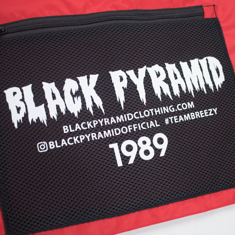 Black Pyramid Solid Splinter Military Vest Red Artwork