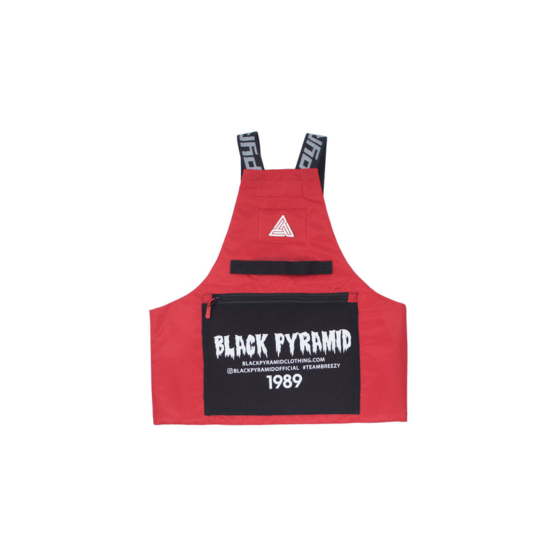 Black Pyramid Solid Splinter Military Vest Red Back
