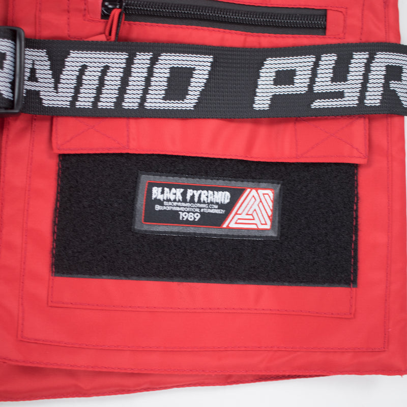 Black Pyramid Solid Splinter Military Vest Red Logo