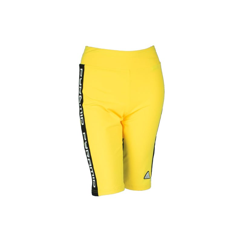 Black Pyramid Women's Side Logo Tape Biker Shorts - PremierVII