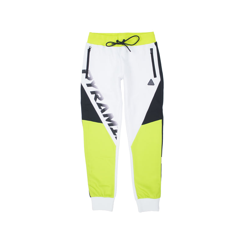 Black Pyramid Women's Raceway Colorblock Joggers White