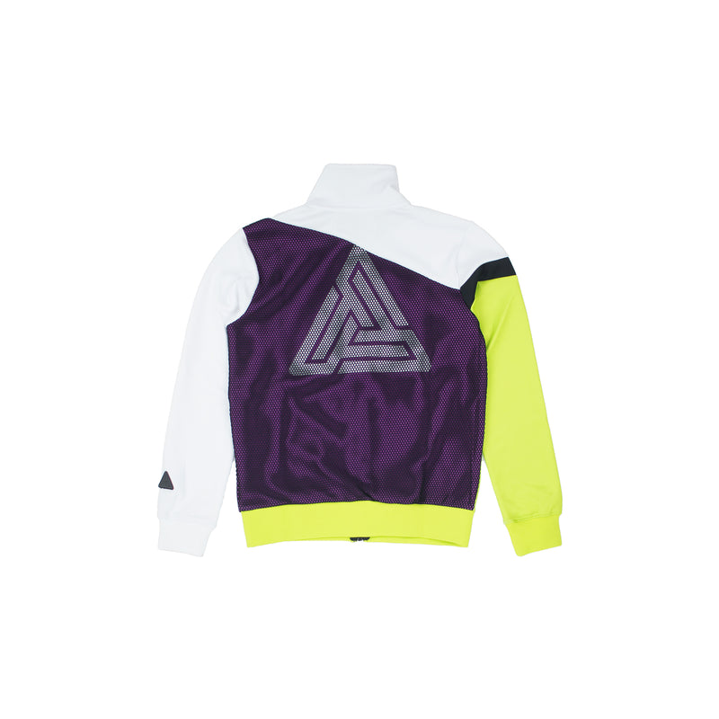 Black Pyramid Women's Raceway Colorblock Track Jacket White Back