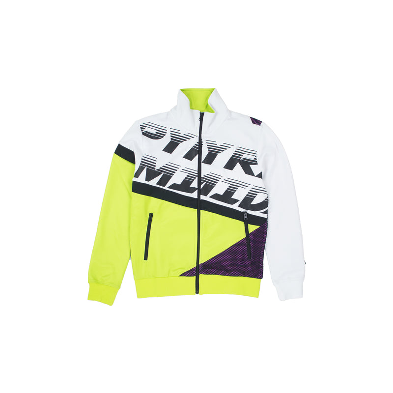 Black Pyramid Women's Raceway Colorblock Track Jacket White