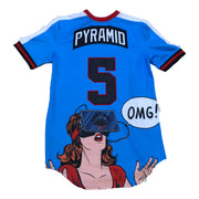 Black Pyramid - Mens - OMG Jersey - Powder Blue - Back
