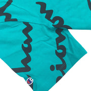 Champion All Over Script T-Shirt Vivid Teal Trademark