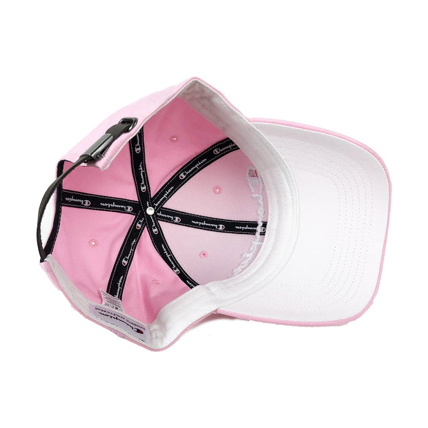 Champion Classic Twill Strapback Dad Hat Pink Candy Bill