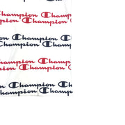 Champion LG Script Stripe T-Shirt White & Red Lower Left Side