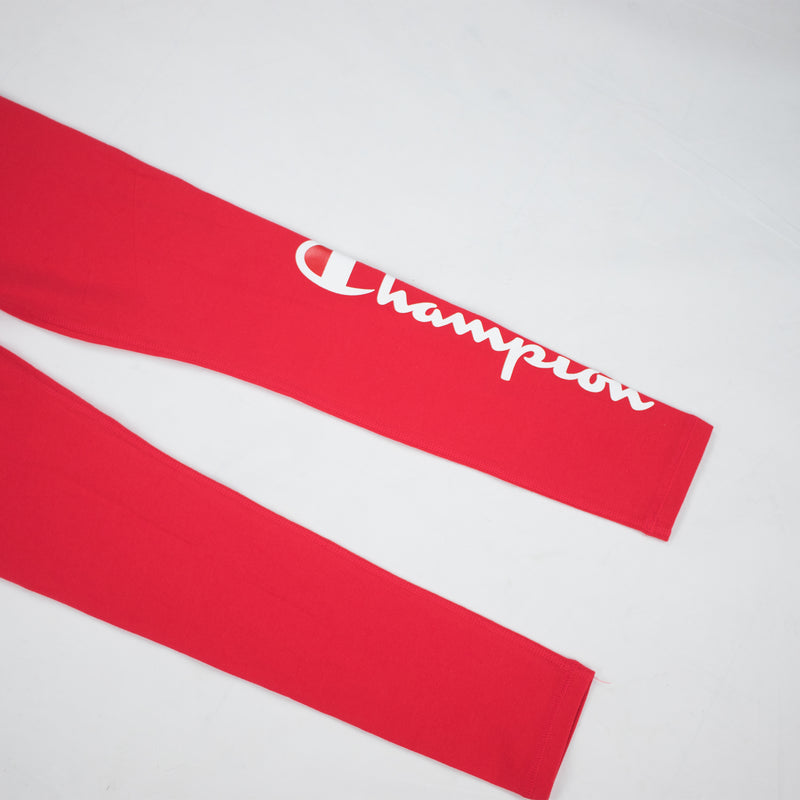 Champion Life Women's Vertical Logo Tights Scarlet Bottoms