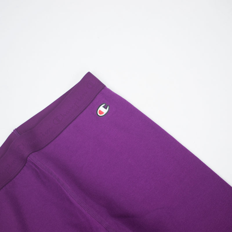 Champion Life Women's Vertical Logo Tights Venetian Purple Logo