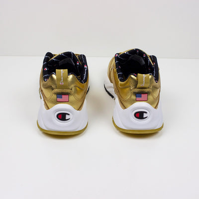 Champion 93 Eighteen Metallic Gold Sneakers - PremierVII