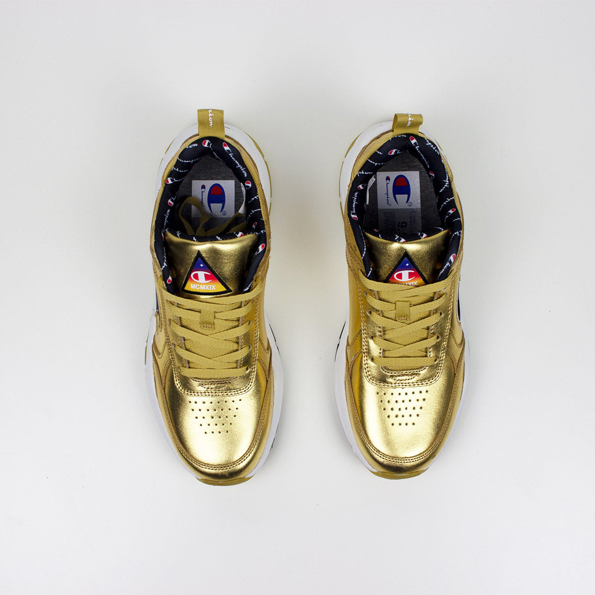 68dbbe8beaf Champion 93 Eighteen Metallic Gold Sneakers