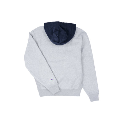 Champion Men's Reverse Weave Corduroy Pullover Hoodie Oxford Grey Back