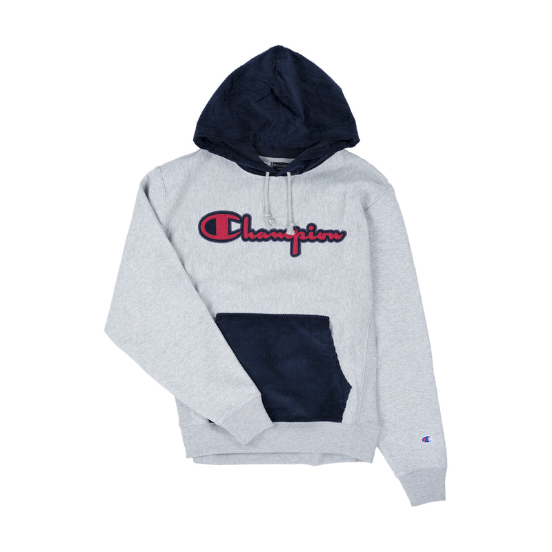 Champion Men's Reverse Weave Corduroy Pullover Hoodie Oxford Grey