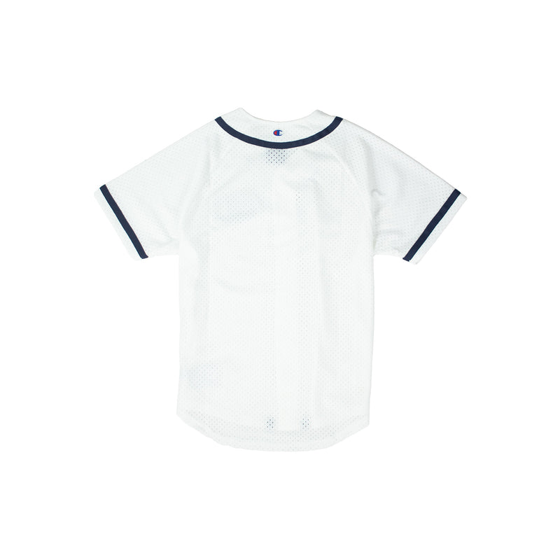 Champion Men's Mesh Baseball Jersey White Back