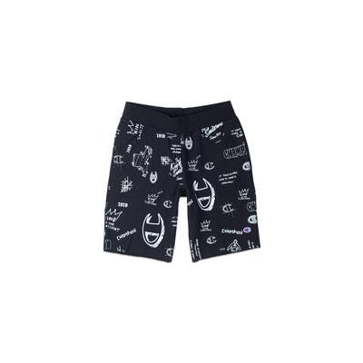 Champion Men's Reverse Weave All Over Print Cut Off Shorts Black