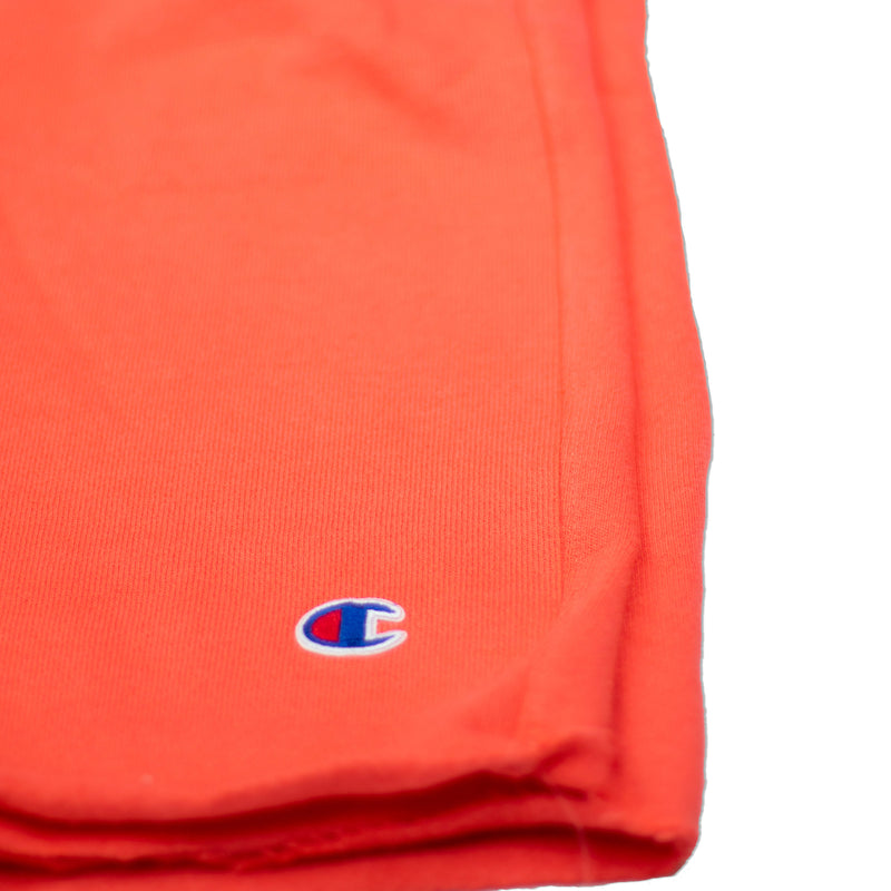 Champion Men's Reverse Weave Cut Off Shorts Groovy Papaya Logo