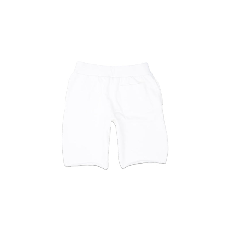 Champion Men's Reverse Weave Cut Off Shorts White Back