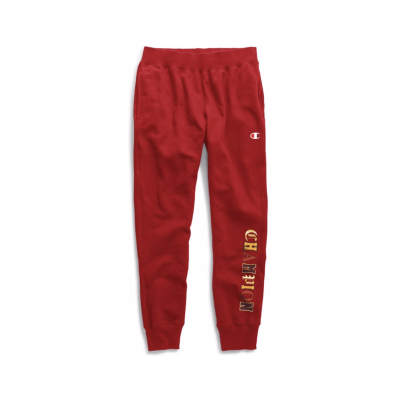 Champion Men's Reverse Weave Old English Joggers Scarlet