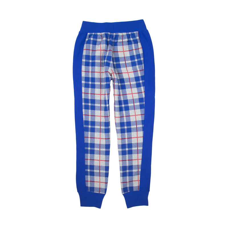 Champion Men's Reverse Weave Plaid Joggers Surf The Web / Oxford Grey Back