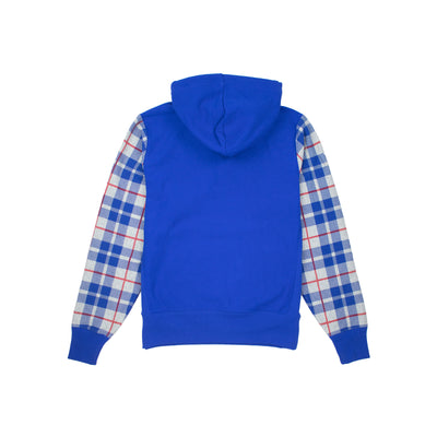 Champion Men's Reverse Weave Plaid Pullover Hoodie Back