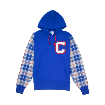 Champion Men's Reverse Weave Plaid Pullover Hoodie Surf The Web