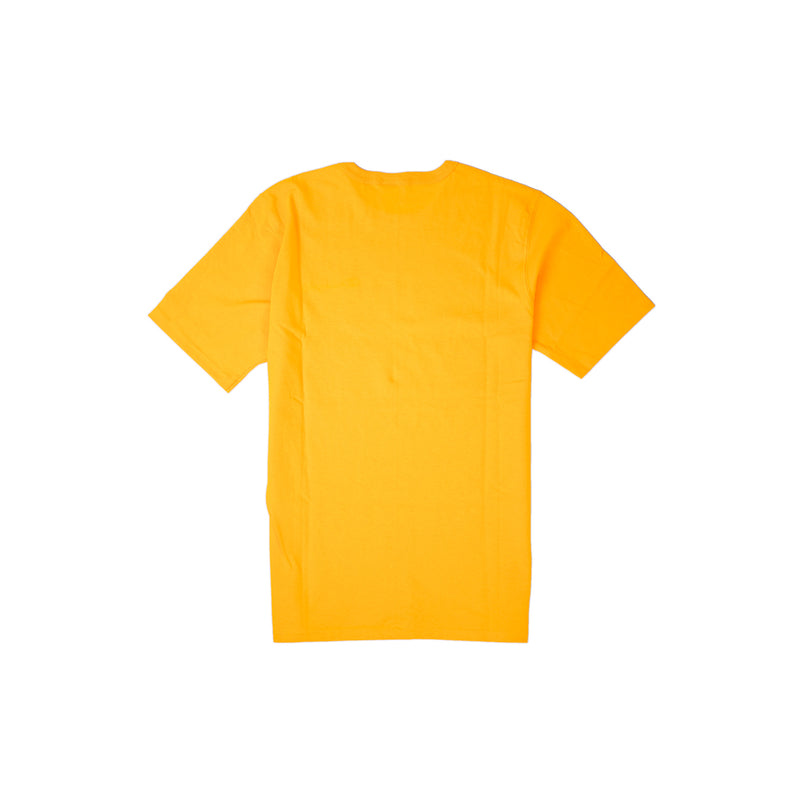 Champion Men's Reverse Weave Script Patch T-Shirt Gold Back