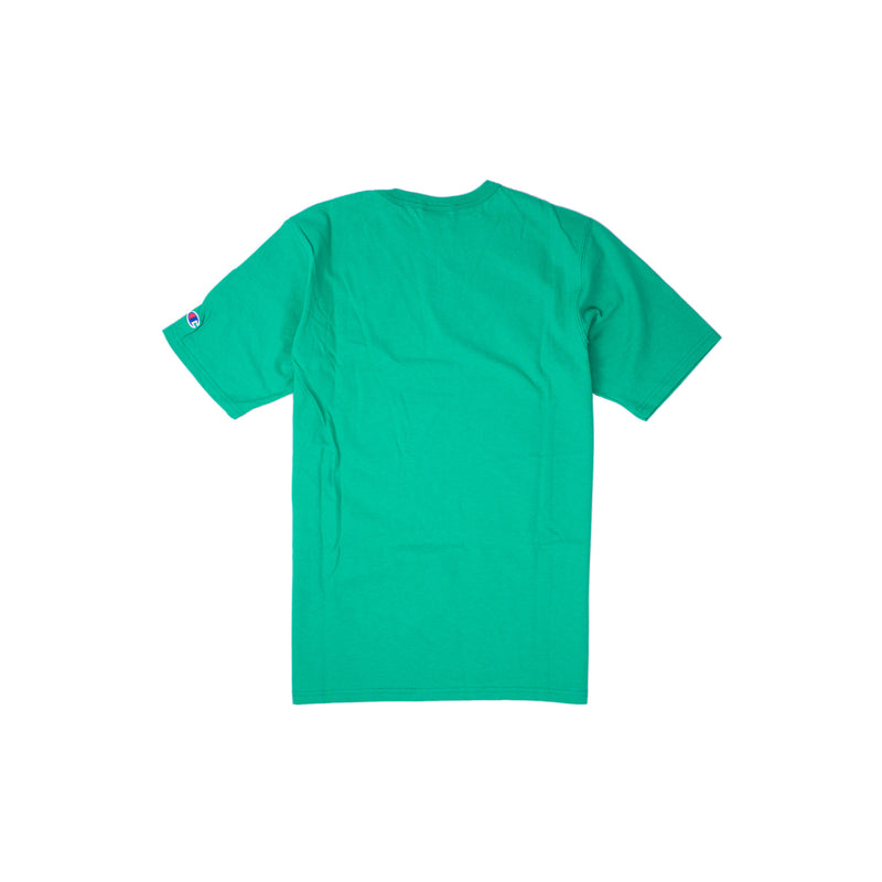 Champion Reverse Weave Script T-Shirt Kelly Green Back