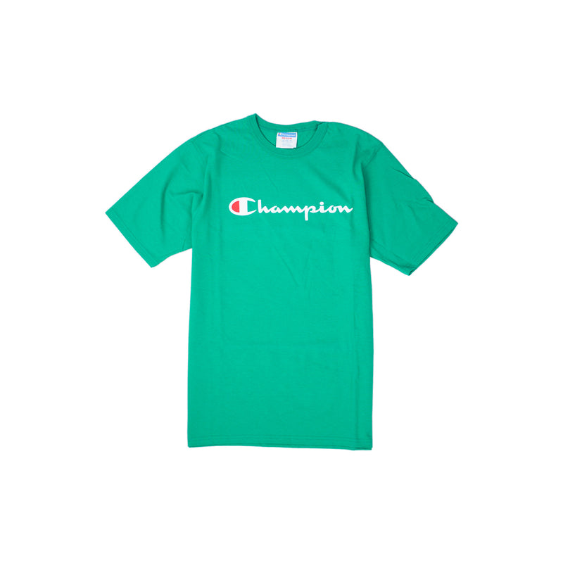 Champion Reverse Weave Script T-Shirt Kelly Green