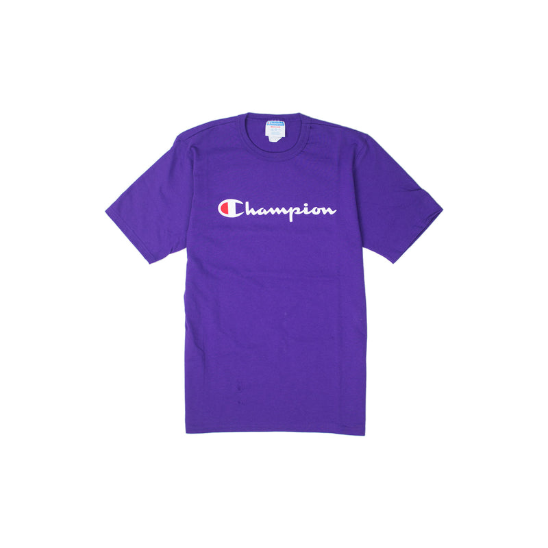 Champion Reverse Weave Script T-Shirt Purple