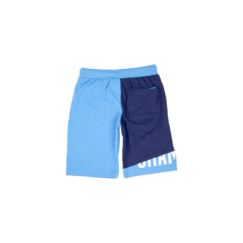 Champion Men's Reverse Weave Shift Shorts Active Blue & Navy Back