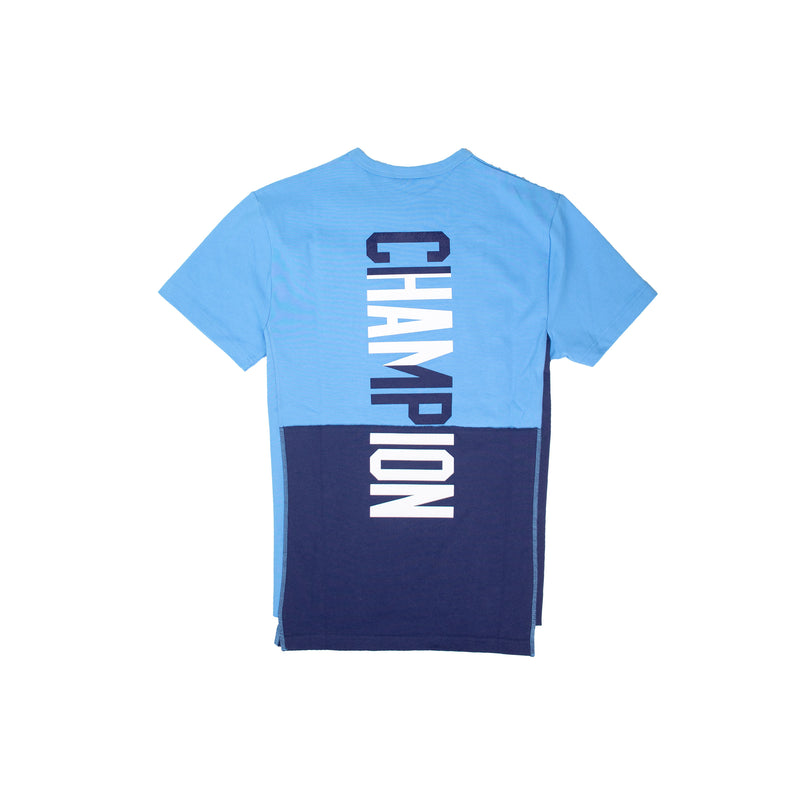 Champion Men's Reverse Weave Shift Tee Active Blue & Navy