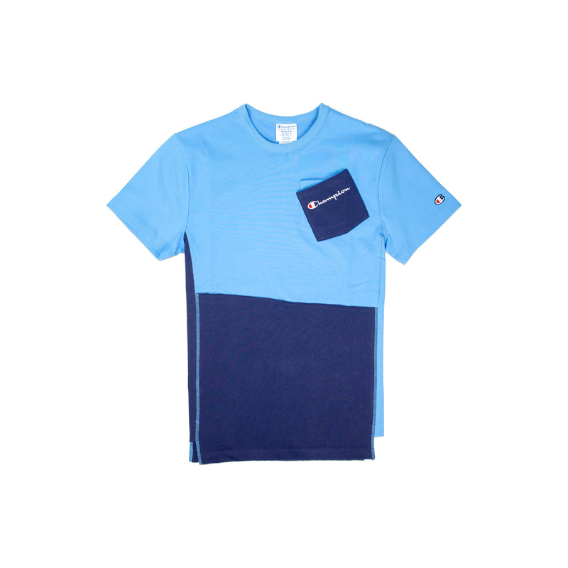 Champion Men's Reverse Weave Shift Tee Active Blue & Navy Front