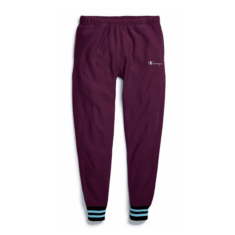 Champion Men's Reverse Weave Yarn Dye Rib Trim Joggers Venetian Purple