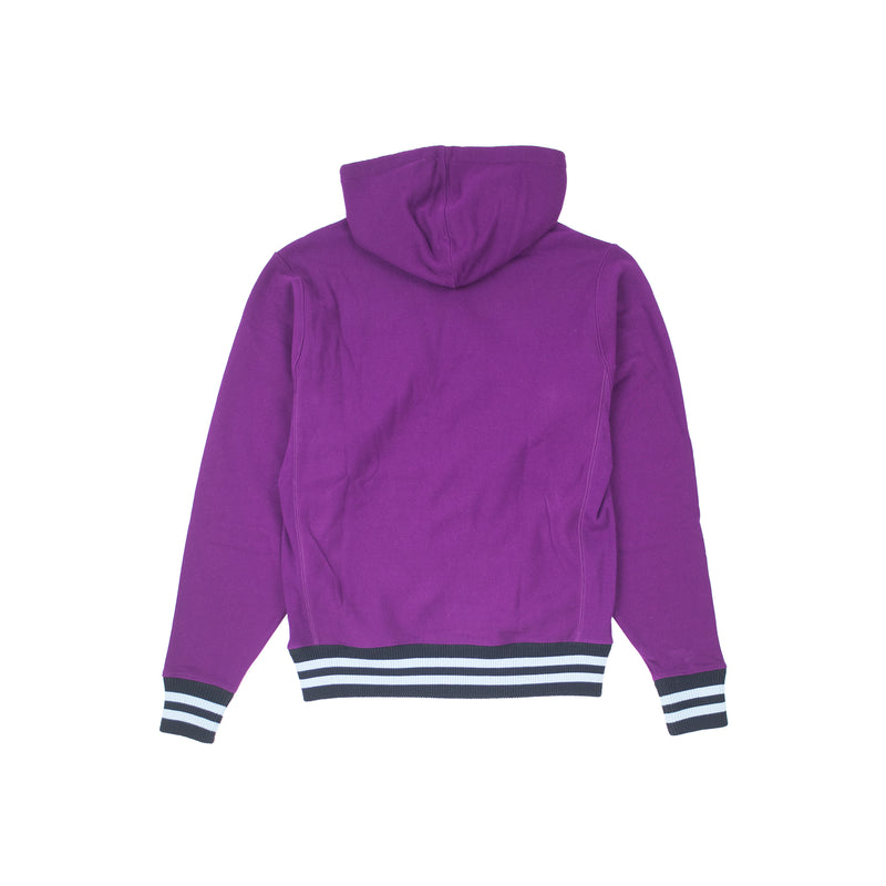 Champion Men's Reverse Weave Yarn Dye Rib Trim Hoodie Venetian Purple Back