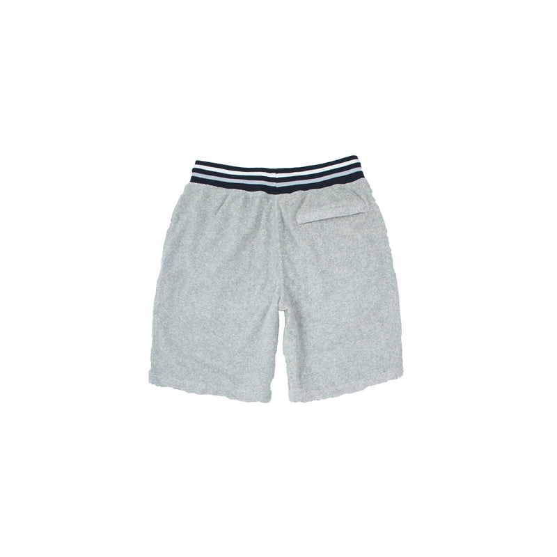 Champion Men's Terry Cloth Shorts Oxford Grey Back