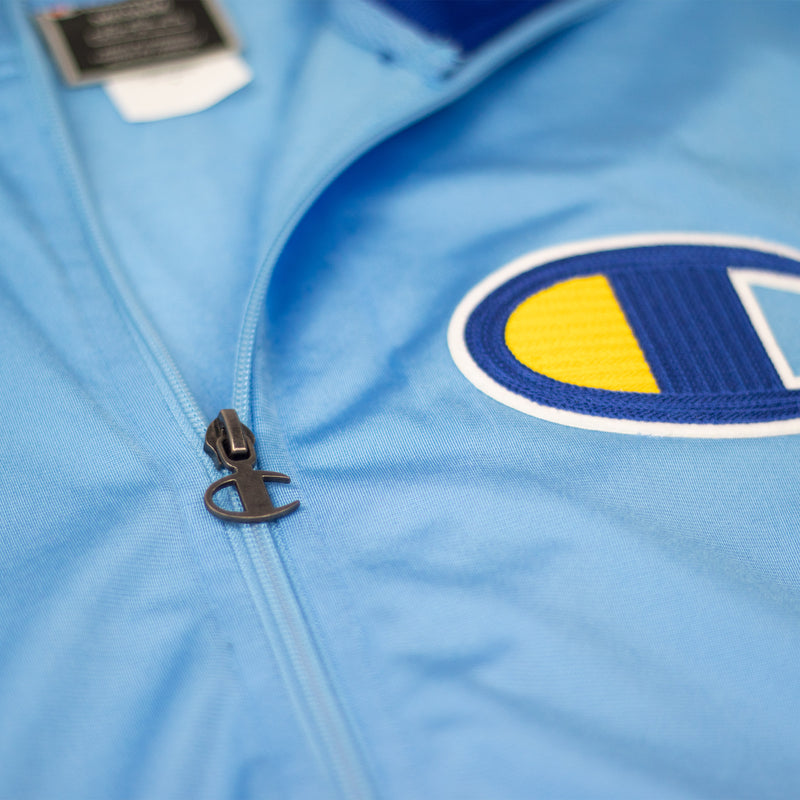 Champion Men's Track Jacket Active Blue Patch