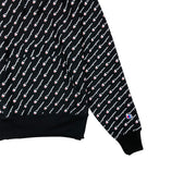 Champion Reverse Weave All Over Print Pullover Hoodie Black Trim