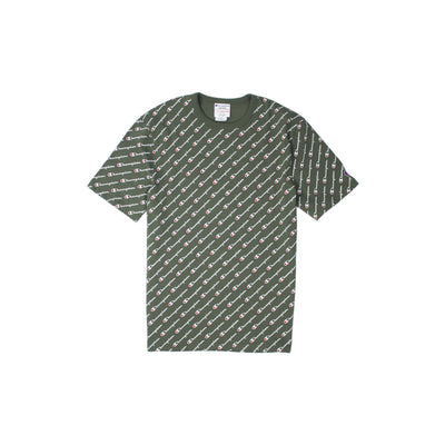 Champion Heritage All Over Script T-Shirt Olive
