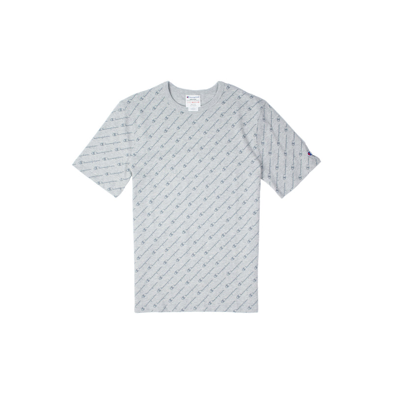 Champion Heritage All Over Script T-Shirt Oxford Grey